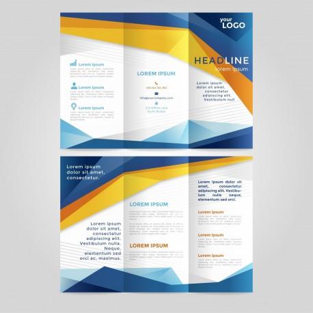 Plantilla: Flyer triptico para negocios