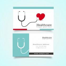 Plantilla: Tarjeta de visita o negocio para medicos