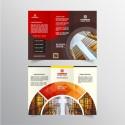 Brochure: Triptico (Abierto igual A4) - Papel couche 200 gr. + Plastificado Mate