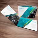 Brochure: Diptico 42.8x 16.3 cm (abierto) - Papel couche 200 gr. + Plastificado Mate