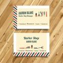 Plantilla: Tarjeta de presentación para barber shop o peluqueria- PT00062