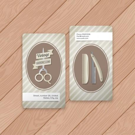 Plantilla: Tarjeta de presentación para barber shop o peluqueria- PT00063
