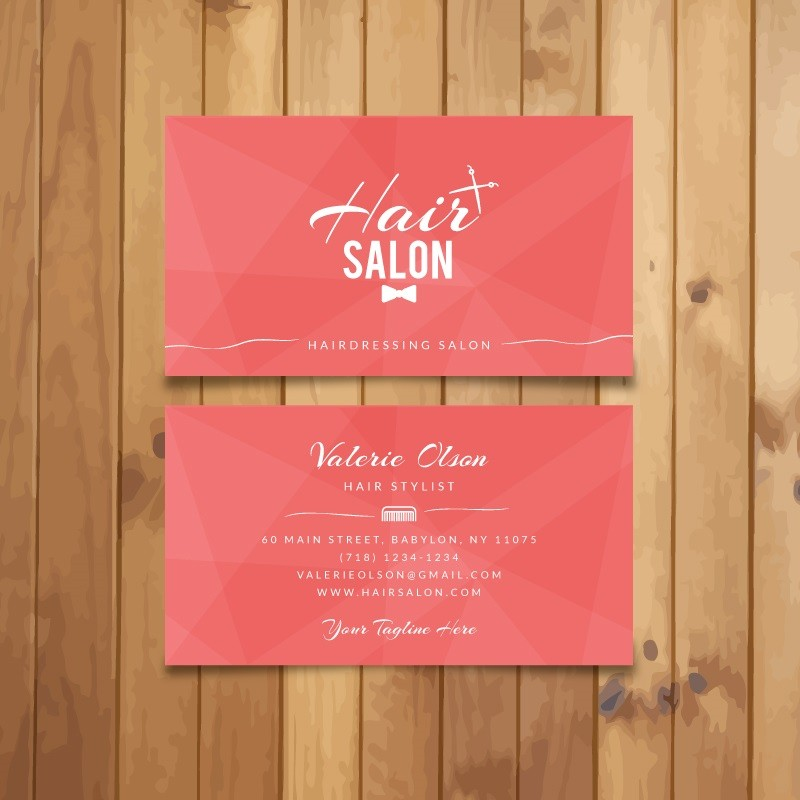 Plantilla: Tarjeta de presentación para barber shop o peluqueria