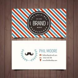Plantilla: Tarjeta de presentación para barber shop o peluqueria- PT00065