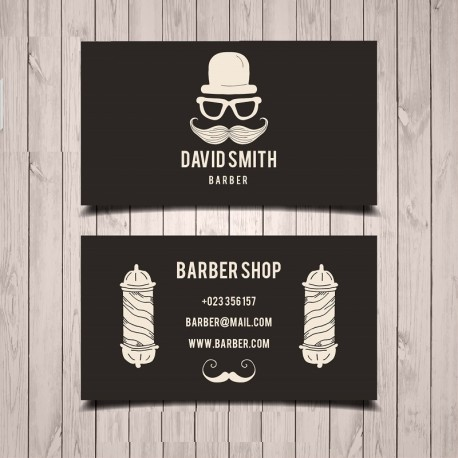 Plantilla: Tarjeta de presentación para barber shop o peluqueria- PT00067