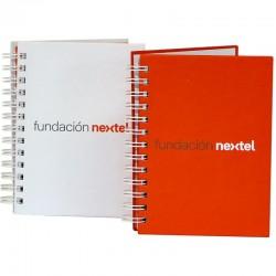 Cuaderno Publicitario A5 con tapa dura y doble ring