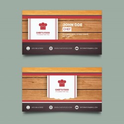 Plantilla: Tarjeta de presentación para cheff o cocina- PT00069
