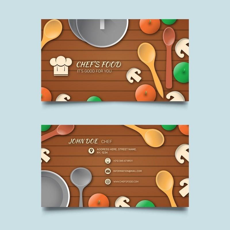 Plantilla tarjeta de presentaci n para cheff o cocina for Plantillas de cocina