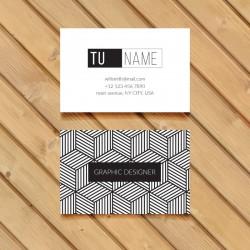 Plantilla de tarjeta de visita o negocio para diseñador grafico