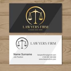 Plantilla: Tarjeta de visita para abogado