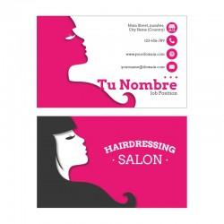 Plantilla de tarjeta de visita para peluquería