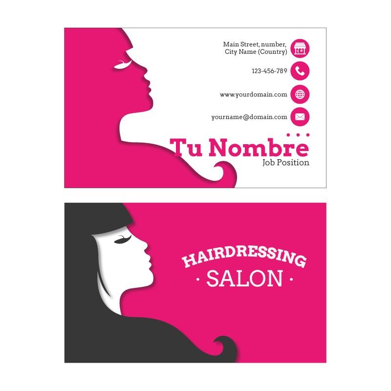 Plantilla: Tarjeta de visita para peluquería