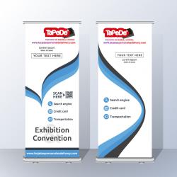 Banner impreso + Roll Screen de 1.00  x 2.00 metros
