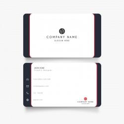 Plantilla: Tarjeta de visita o negocio colorida - PT00111 (minimalista)