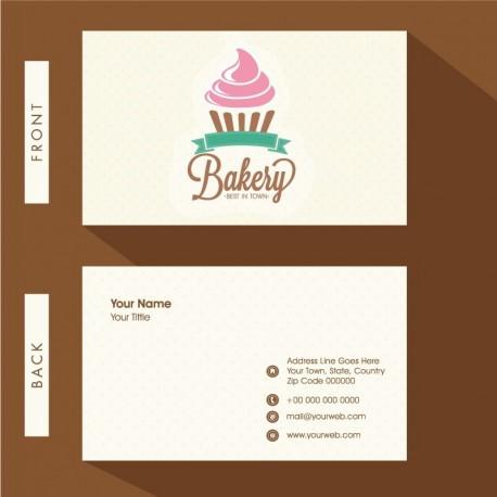 Plantilla: Tarjeta de visita o negocio - PT00119 minimalista pasteleria