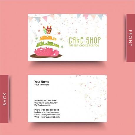 Plantilla: Tarjeta de visita o negocio - PT00120 decorativa pasteleria