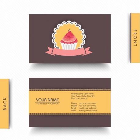 Plantilla: Tarjeta de visita o negocio - PT00121 decorativa pasteleria