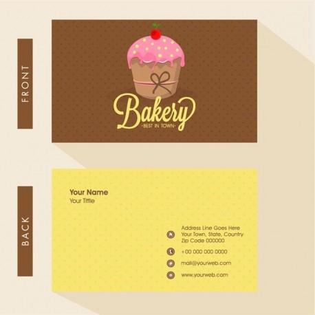 Plantilla: Tarjeta de visita o negocio  - PT00122 decorativa pasteleria