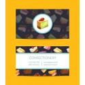 Plantilla: Tarjeta de visita o negocio  - PT00123 decorativa pasteleria