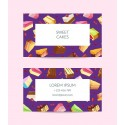 Plantilla: Tarjeta de visita o negocio  - PT00124 decorativa pasteleria
