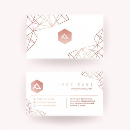 Plantilla: Tarjeta de visita o negocio  - PT00127 minimalista o simple