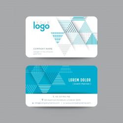 Plantilla: Tarjeta de visita o negocio con triangulos azules