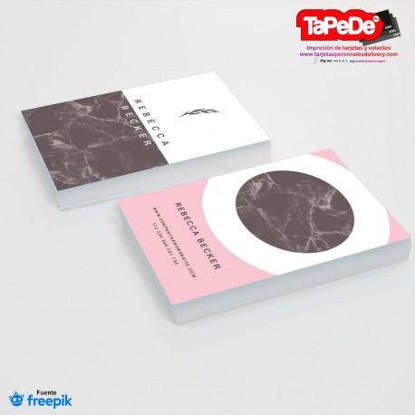 Tarjeta de visita o negocio  - PT00129 minimalista o simple