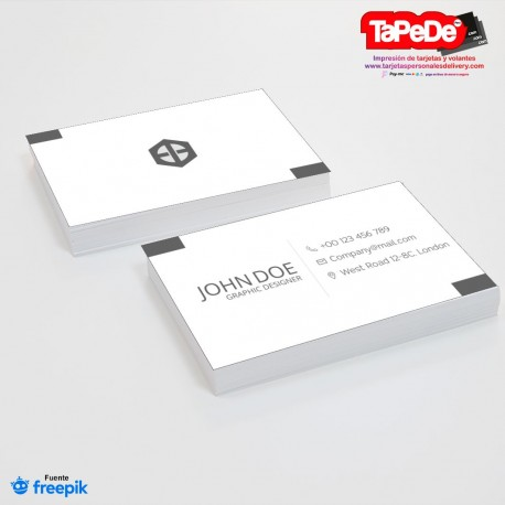 Plantilla: Tarjeta de visita o negocio  - PT00130 blanco y negro minimalista