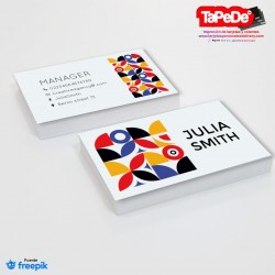Plantilla: Tarjeta de visita o negocio  - PT00132 colorida-abstracta