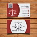 Plantilla: Tarjeta de visita para abogados- PT00013
