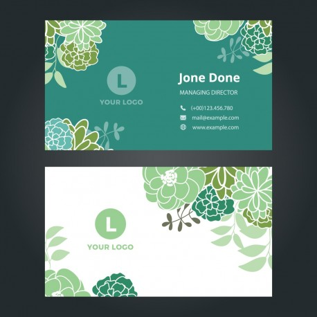 Plantilla: Tarjeta de visita para negocios verde