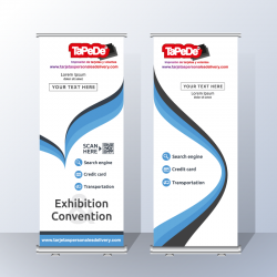 Banner impreso + Roll Screen de 1.50  x 2.00 metros