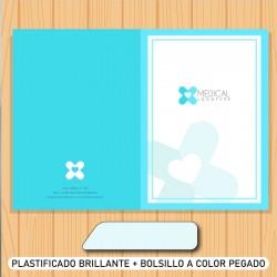 Folder + plast. brillante...