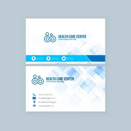 Plantilla: Tarjeta de visita o negocio para medicos - PT00021