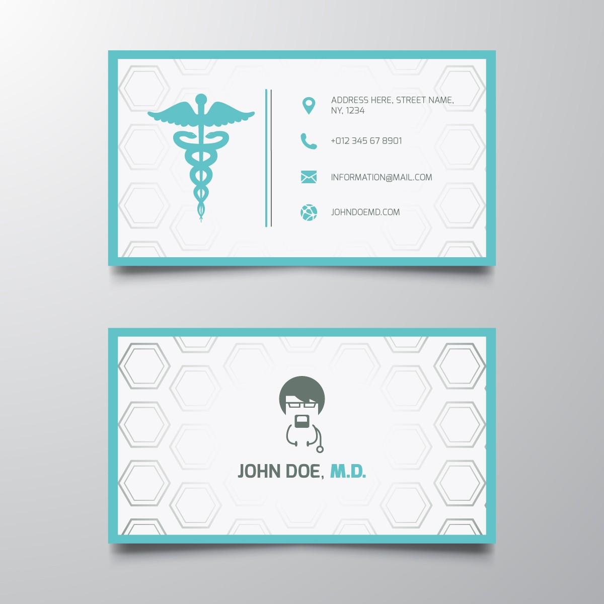Plantilla: Tarjeta de visita o negocio para medico en general
