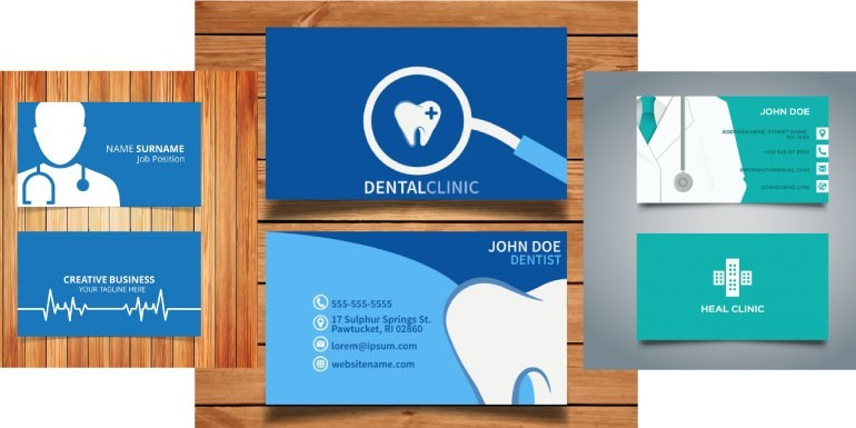 Tarjetas personales o presentación para médicos en general, odontólogos y veterinarios.