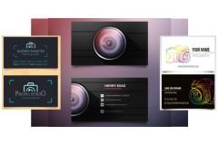 Más de 30 diseños o modelos de tarjetas personales / presentacion para fotógrafos