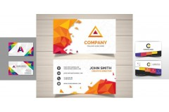 Más de 30 diseños o modelos de tarjetas personales / presentación con colores llamativos y abstractos
