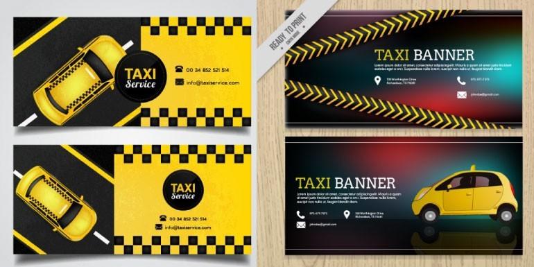 Tarjetas personales o presentacion para taxistas