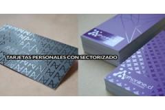 Tarjetas personales / presentacion con sectorizado UV