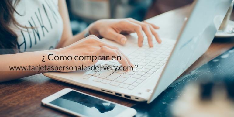 ¿Como comprar en www.tarjetaspersonalesdelivery.com